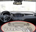 Auto interior moulding, inner air vent door handle trim for KIA Sorento, ABS chrome,auto accessories,18pcs/set.