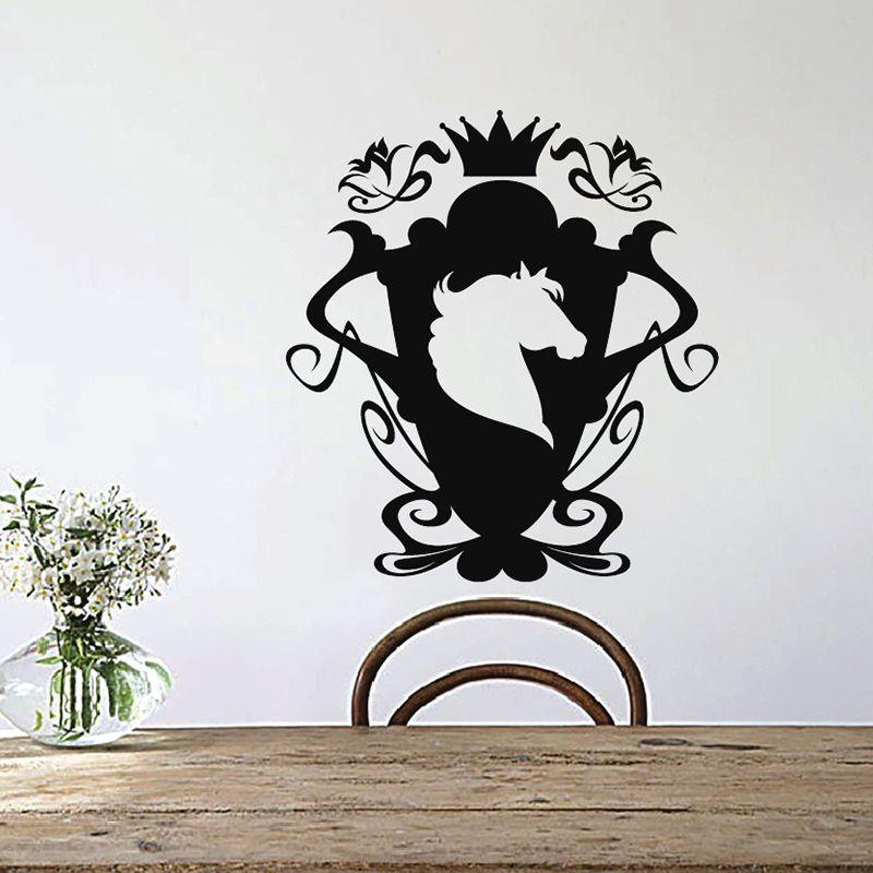 Zuczug Unicorn Trophy Wall Stickers 55x60cm 21x23in Art Decals Designs Wall Sticker Home Decor Living