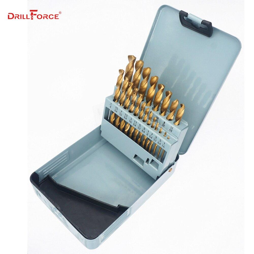 20% OFF 25pcs DIN338 metal box Twist drill bits set ,HSS 4341 and ...