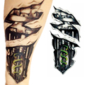 3D Large Waterproof Temporary Tattoos Stickers Mechanical Arm Fak Temporary Men Tattoo Sticker Body Art Removable Z4