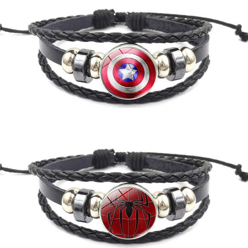 Movie Captain America Steve Rogers Bracelet Cosplay Accessories Props Spider-Man Bracelet Hand Chain Jewelry SpiderMan