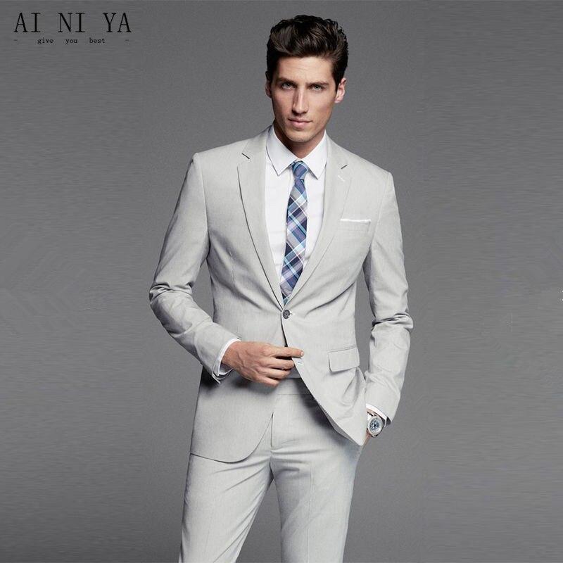 Men Suit Single Breasted Wedding Groom Suit With Pants Tuxedo For Men Wedding Suits Prom Best Man Suit Jacket+Pants Custom
