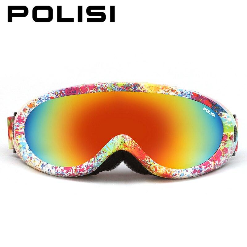 d23633bcf3198 Homens mulheres de inverno ao ar livre esportes polisi snowboard skate  goggles uv400 óculos de esqui snowmobile da motocicleta óculos de esqui  anti-fog ...