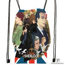 Custom Sherlock The Abominable 01 Drawstring Backpack Bag Cute Daypack Kids Satchel Black Back 31x40cm 180611