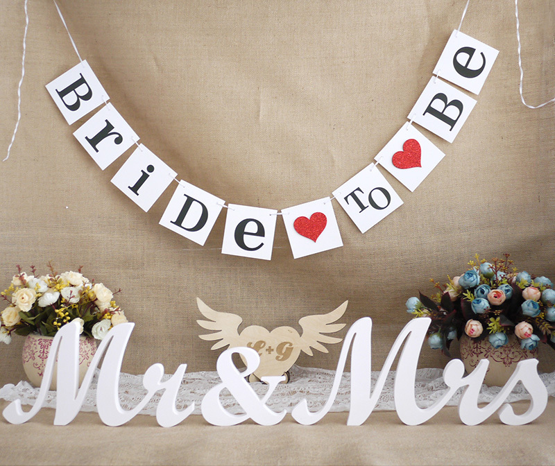 Free Shipping 1 X Bride To Be Banner Bridal Shower Garland