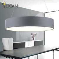 LICAN современный светодио дный приостановление подвесные светильники для офиса обеденный гостиных круглый освещение колец светильники