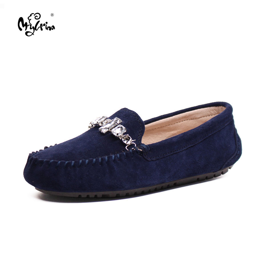MYLRINA Top Fashion New Genuine Leather Women Solid Slip-on Driving Shoes Flats Casual Female Moccasins Spring Lady Loafes branded men s penny loafes casual men s full grain leather emboss crocodile boat shoes slip on breathable moccasin driving shoes