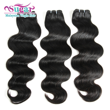 3Bundles 7A Malaysian Virgin Hair Body Wave Hair Style 1B Sugar Hair Malaysian Body Wave Malaysian Virgin Human Hair Weave