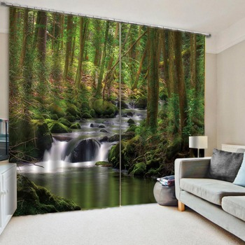 natural scenery 3D Curtain Printing Blockout Polyester Photo Drapes Fabric For Room Bedroom Window curtains