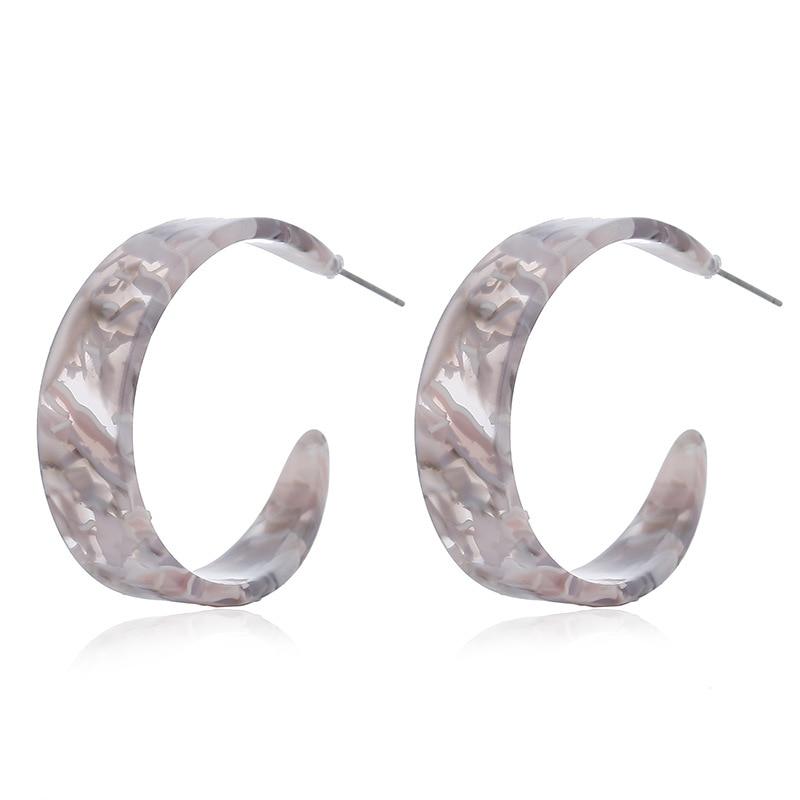 Exaggeration Geometric Statement Acrylic Earrings Vintage Leopard Earrings For Women 2019 Fashion Female Earrings Party Jewelry in Drop Earrings from Jewelry Accessories