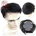 Реальные человеческие волосы парики для мужчин Замены волос супер тонкая кожа парик мужчин Короткие парики парик Моно база волосы sistem мужские toup