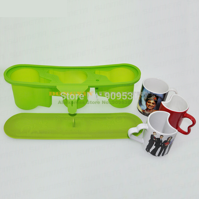 New 110Z Thermostability Silicone Rubber Mug Fixture Clamp For Irregular Mug 3D Sublimation Machine Slicone Mould