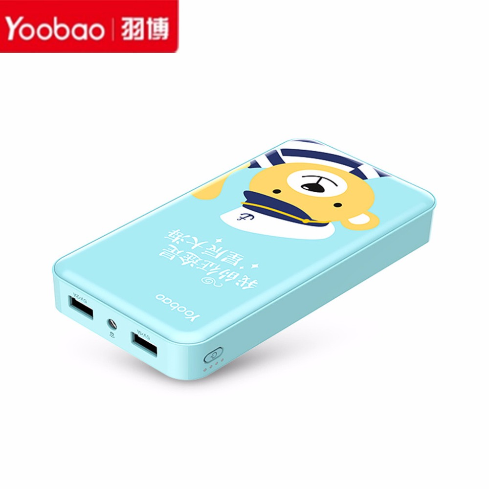 Yoobao 20000mAh-YB-S8 Plus Universal LED Portátil de Doble Salida USB Power bank