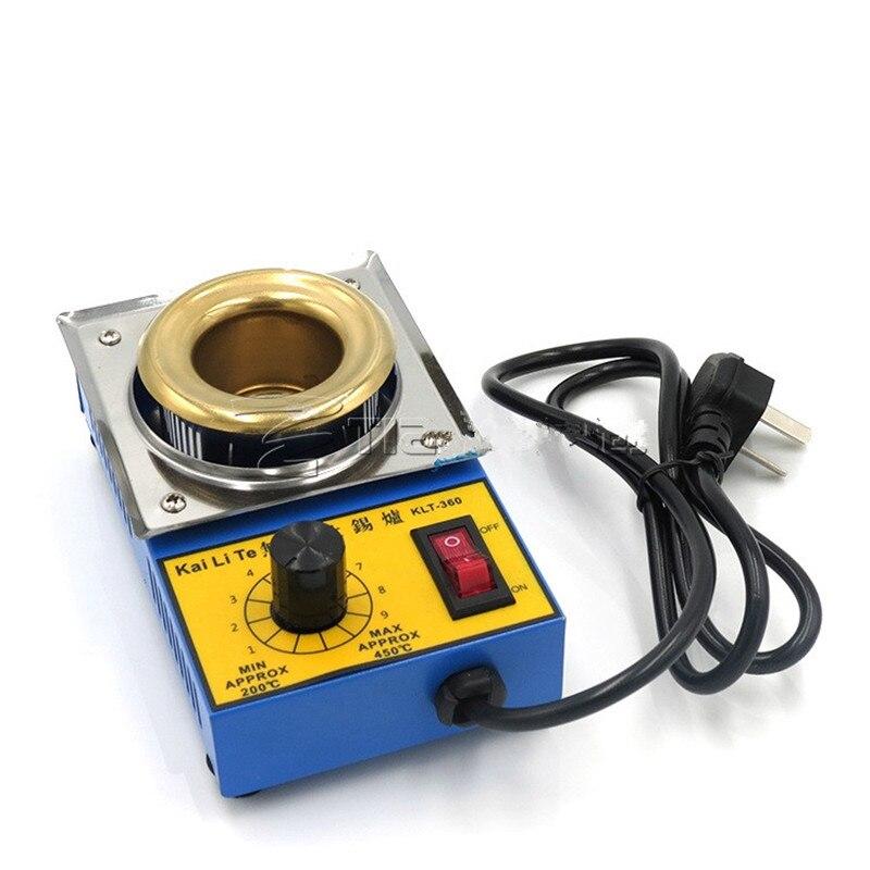 220 В регулировать температуру свинца, расплавленного олова плита 38 мм Малый 100 Вт нержавеющая сталь Титан покрытие пайки машина для потока