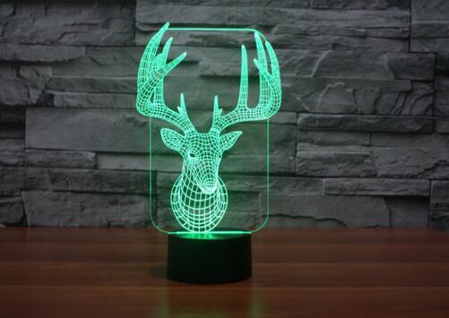 Light Christmas Sven Reindeer LED USB Home Decoration Night Lamp Christmas Accessories Decal Navidad Natal Rena Lampara Toys
