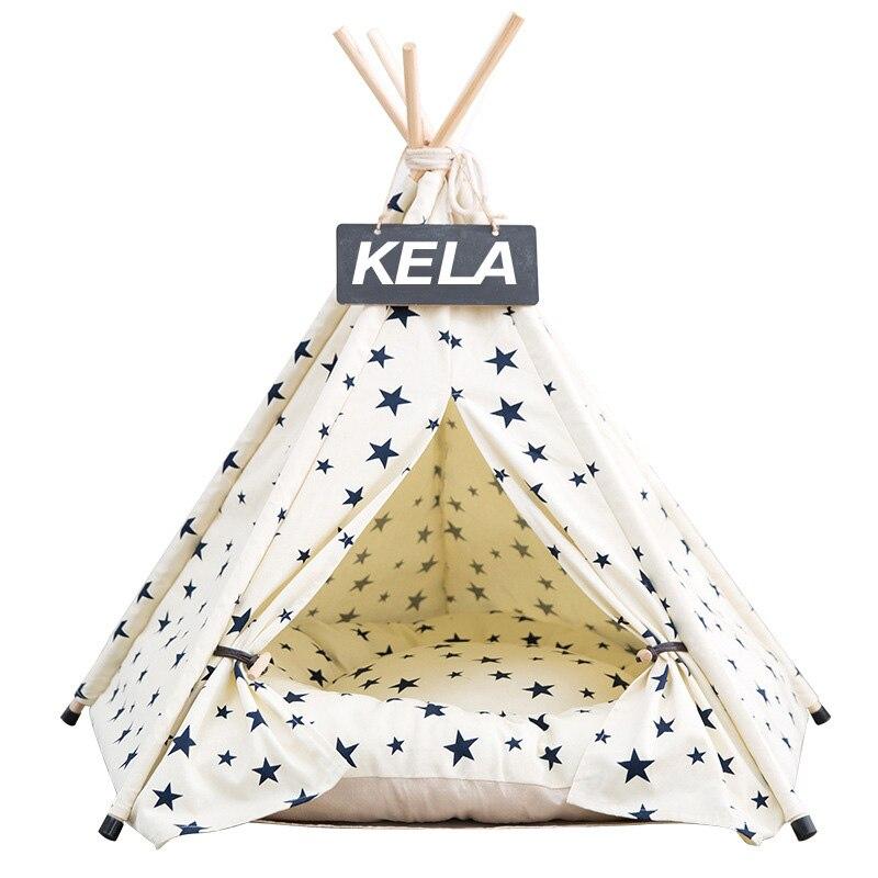 JORMEL 2019 Moda Pet Tenda Tenda Brinquedo Casa Do Gato Do Cão Cama Pet Lavável Portátil Padrão de Estrela Não Contêm Mat