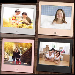 7 inch Metal LED Digital Photo Frame  Video Music Calendar Clock Player 1024x600 Resolution with Remote Control