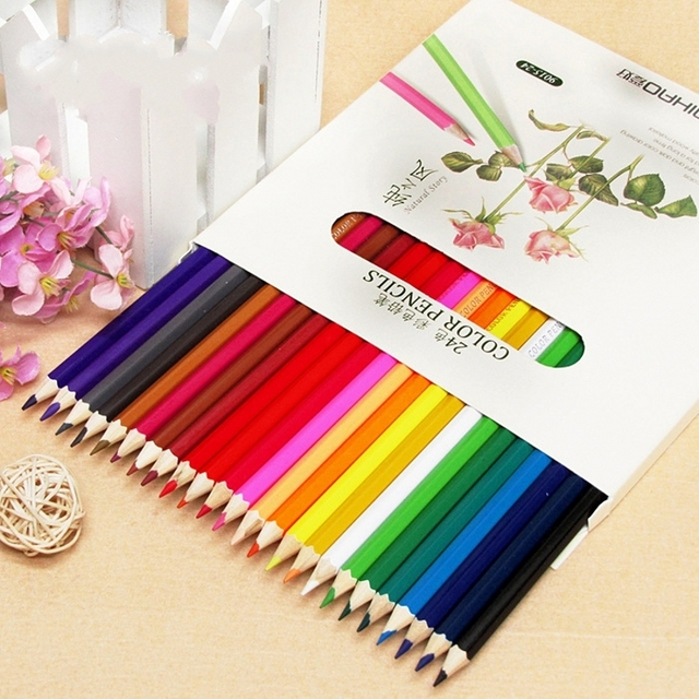 24pcs Lot Secret Garden Colored Pencils Creative Stationery Coloring