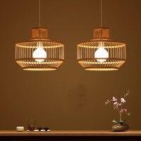 Юго Восточной Азии Люстры китайский стиль бамбука Творческий Спальня Ресторан бамбука арт лампы творческие люстры