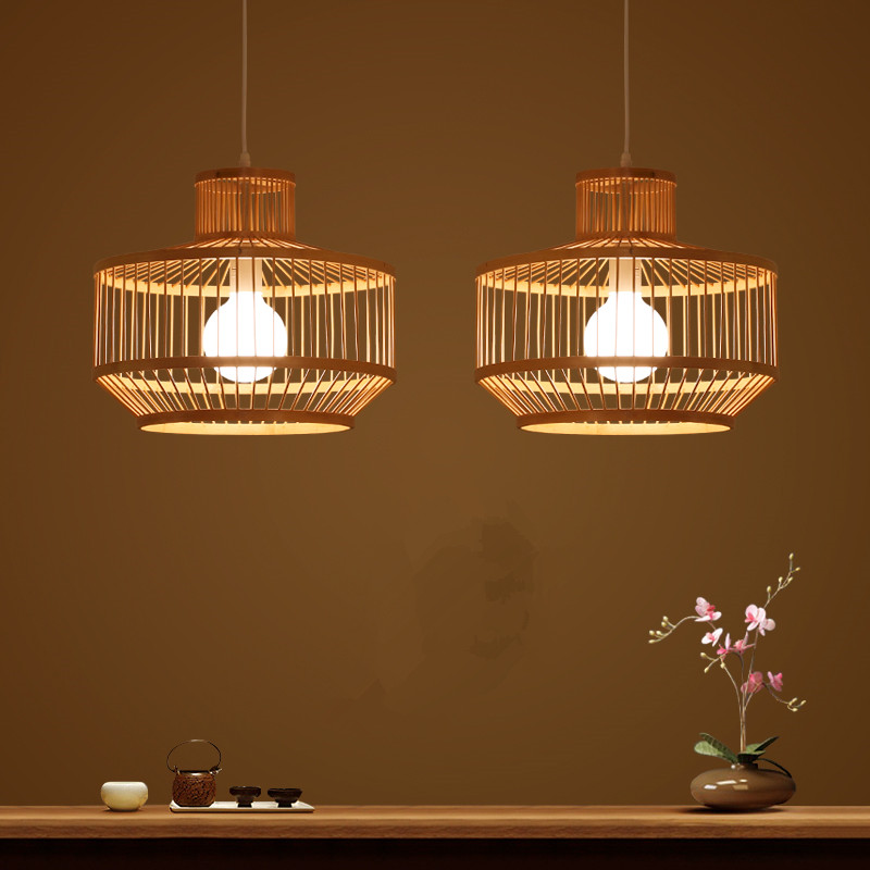 Lustres d'asie du sud-est style chinois bambou chambre créative restaurant lampes d'art en bambou lustres créatifs