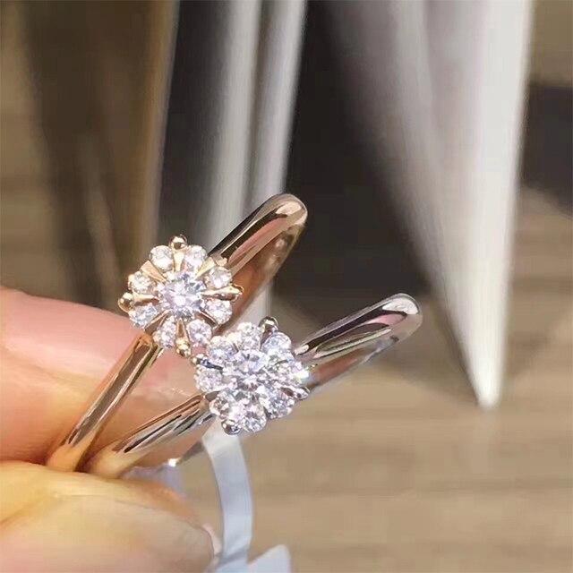 099e9faf1eb ANI 18K Rose Gold (AU750) Women Wedding Ring Certified I SI 0.134 ct Real Diamond  Elegant Classic Fine Engagement Jewelry Custom