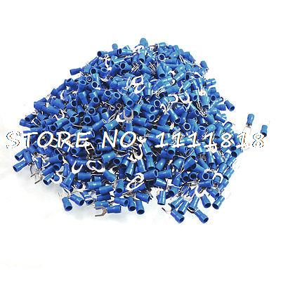 цена на SV2-5 Fork Type Pre Insulated Wiring Terminals Blue 1000pcs for AWG 16-14