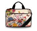 "Fashion canvas computer bag 15""  laptop shoulder case bag 15.6 17 inch  for Macbook air / lenovo with handle + shoulder strap"