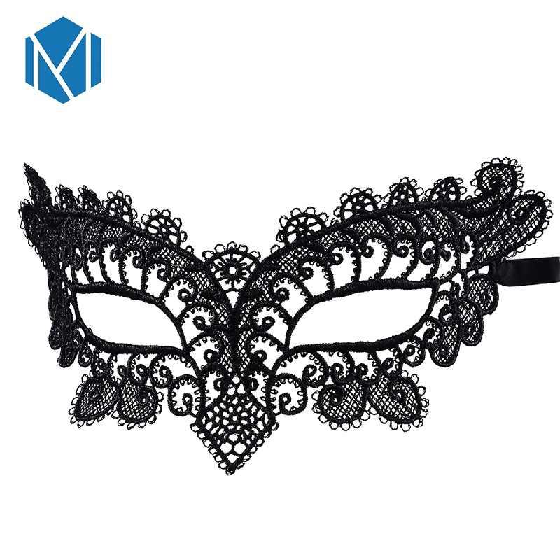 M Mism 1 Halloween Đen Gợi Cảm Hóa Trang Mắt Khẩu Trang Rỗng Ra Hứa Hộp Đêm Ren Ngoại Lai Mũ Trùm Đầu Phụ Kiện dành Cho Nữ
