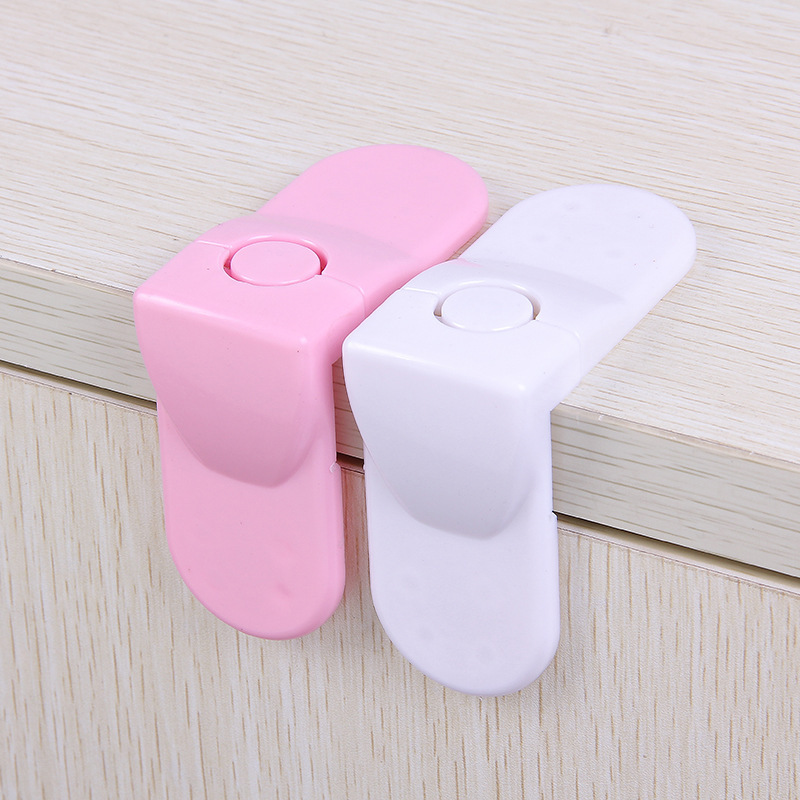 10Pcs Child Safety Lock Indoor Right Angle Drawer Lock Anti-pinch Baby Protective Equipment Corner Drawer Protection Lock