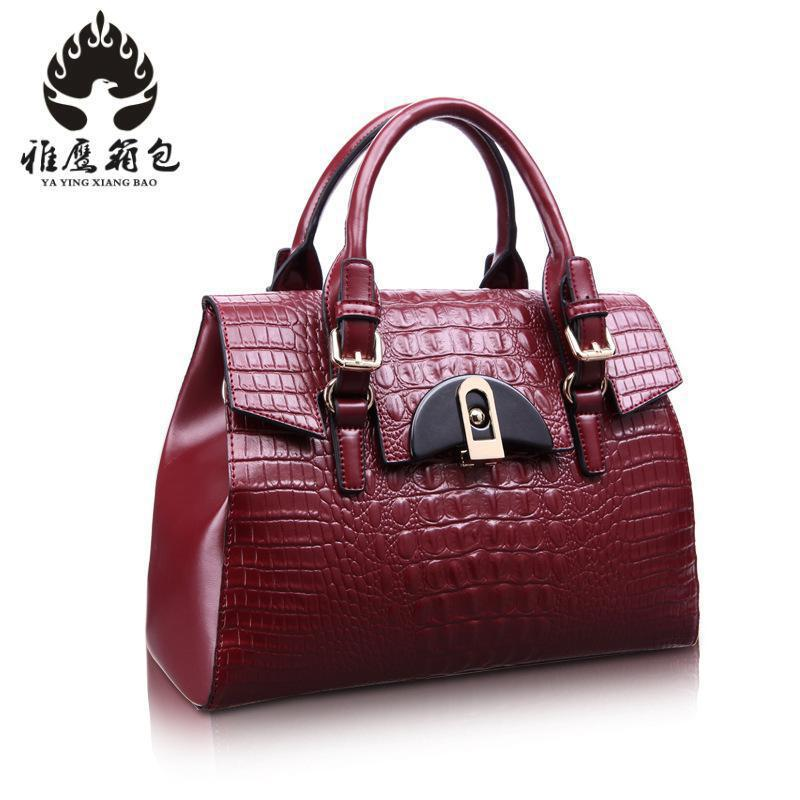 New 2018 Brand Stone Pattern Women Bag Soft Genuine Leather Women Handbag Fashion Shoulder Bag Femal Top-handle Bag 2017 fashion women bag genuine leather alligator pattern women shoulder bag soft leather brand bag women handbag femaletote bag