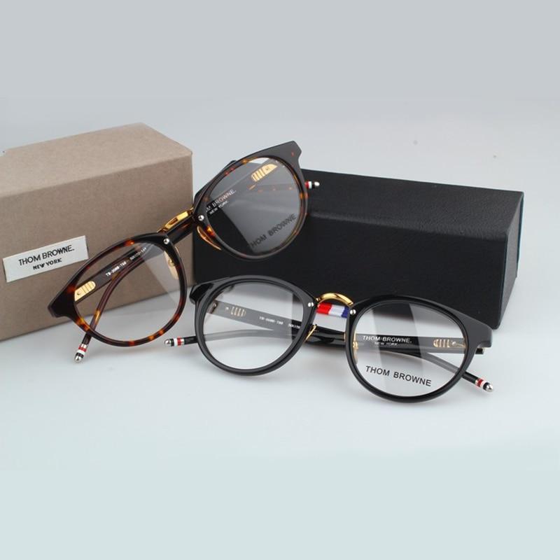 High Quality Computer Glasses Frame Men Women Vintage Round Eyeyglasses Myopia Reading Eyewear With Original Case
