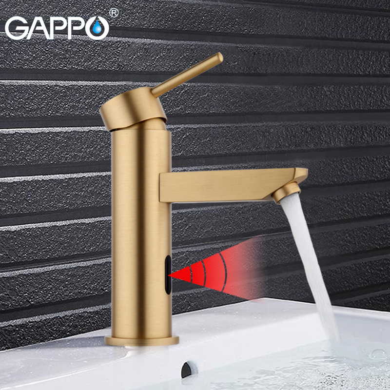 GAPPO bathroom Basin Faucet Torneira Water Mixer basin sensor taps automatic infrared sensor faucet touchless basin mixer GA520 gappo gold kitchen faucet torneira cozinha water sensor taps automatic infrared touchless sensor faucet kitchen mixer ga521