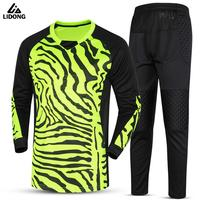 Kids Survetement Football Goal Keeper Jersey Sets Soccer Goalkeeper Training Suit Uniforms Boys Goalie Tracksuits Kit
