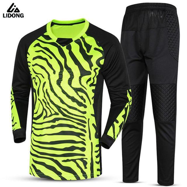 beae72595 Kids Survetement Football Goal Keeper Jersey Sets Soccer Goalkeeper  Training Suit Uniforms Boys Goalie Tracksuits Kit