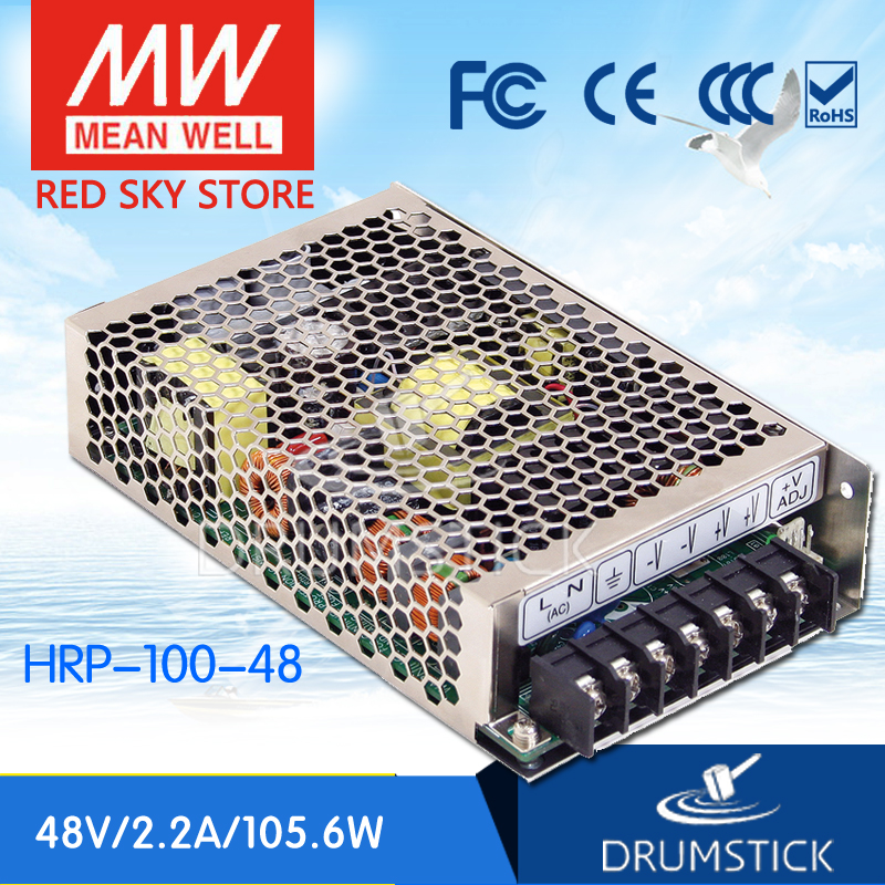 MEAN WELL HRP-100-48 48V 2.2A meanwell HRP-100 48V 105.6W Single Output with PFC Function  Power Supply [Hot1] selling hot mean well epp 300 48 48v 6 25a meanwell epp 300 48v 300w single output with pfc function