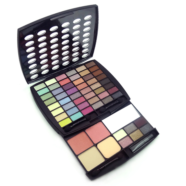 57 Color Eyeshadow Blush Face Powder Makeup Palette Professional Cometic Shimmer Eyeshadow Brush Make Up Set Kit