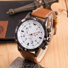 Reloj de los hombres 2017 Nueva Moda Casual Relojes Deportivos Analógico Relojes Vestido Relojes Hombres Reloj de Cuarzo de Cuero Genuino LZ154