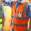 2016 Nuevo de Alta Visibilidad Chaleco Reflectante de Seguridad, Chaleco Reflectante Amarillo Poliéster Lote de Trabajo Seguridad de Noche Oscura