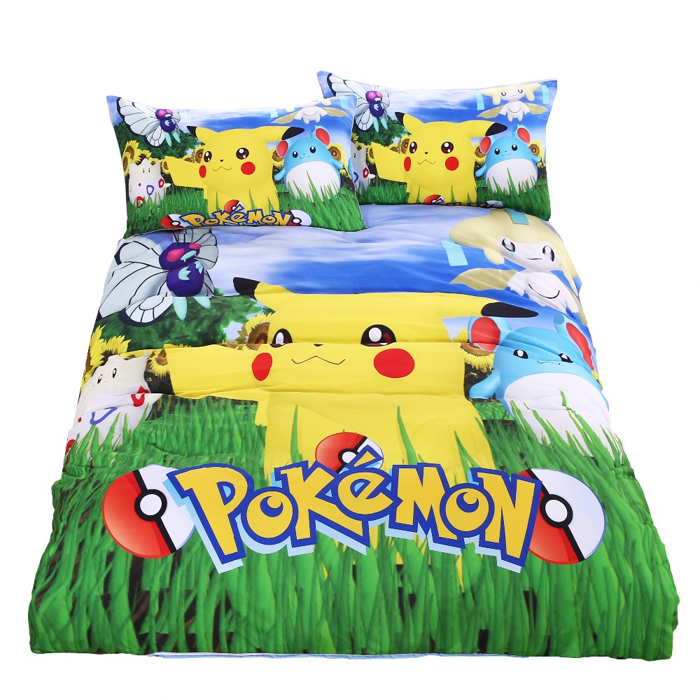 Queen Size Bed Sheets And Comforter With Picachu
