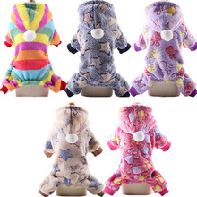 Soft Fleece Dog Jumpsuit Winter Warm Dog Pajamas Clothing Puppy Hoodie Coat Pet Clothes For Small Dogs Chihuahua Yorkshire Teddy цена