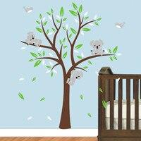 Oversize 250x200cm Koala Tree Wall Decal Wall Stickers Art Nursery Vinyls Baby Kids Bedroom Decor Children's Wall Sticker