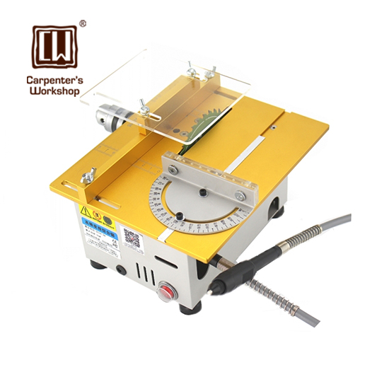 Carpenter's Workshop,Miniature DC 24V 7000RPM Precision Cutting Cachine Bench Saw