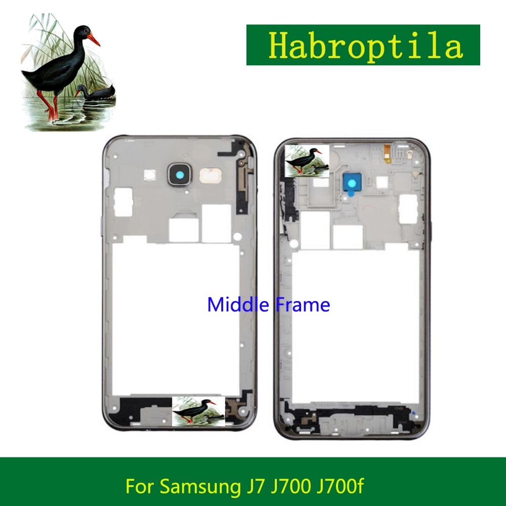 For Samsung Galaxy J7 2015 J700 J700F Middle Frame Middle Housing Replacement Screen Plate Bezel Repair Parts