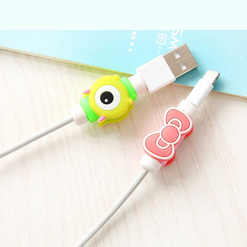 FFFAS USB כבל מגן טלפון קו המותח כיסוי מקרה חוט ארגונית קליפ מחזיק עבור IPhone 4 5 5S 6 6s 7 7s 8 X בתוספת אוזניות