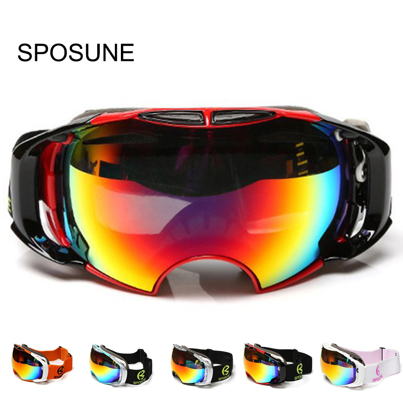 Snowboard Ski Goggles Anti-fog Double Lens Motocross Ski Glasses UV400 for Men & Women Professional Skiing Glasses Snow Goggles vector brand ski goggles men women double lens uv400 anti fog skiing eyewear snow glasses adult skiing snowboard goggles