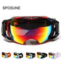 Snowboard Ski Goggles Anti fog Double Lens Motocross Ski Glasses UV400 for Men & Women Professional Skiing Glasses Snow Goggles