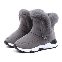 2018 New Winter Children Boots Thick Warm Shoes Cotton-Padded Suede Buckle Boys Girls Boots Boys Snow Boots Kids Shoes #TX5(China)