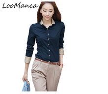 87dd5467f9851 2018 Blusas feminina Women Elegant Chiffon Blouses All-Match Sexy Formal  Office Ladies Long Sleeve Work Office Shirt Tops