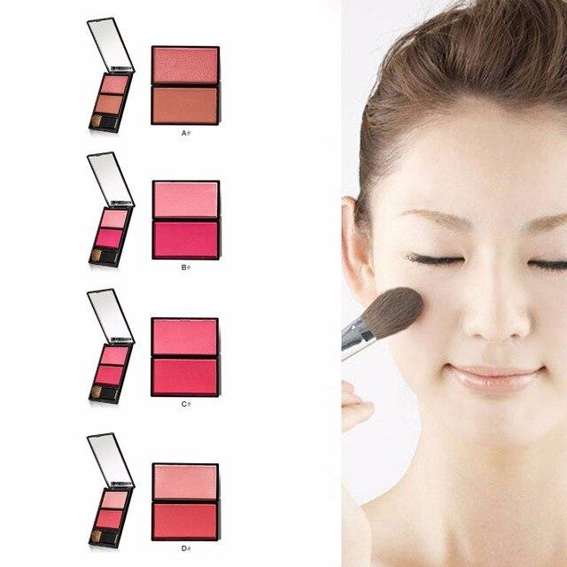 Maquillaje estilo 4 marca colorete en polvo 8 colores colorete polvo diferente prensado base maquillaje colorete cosméticos
