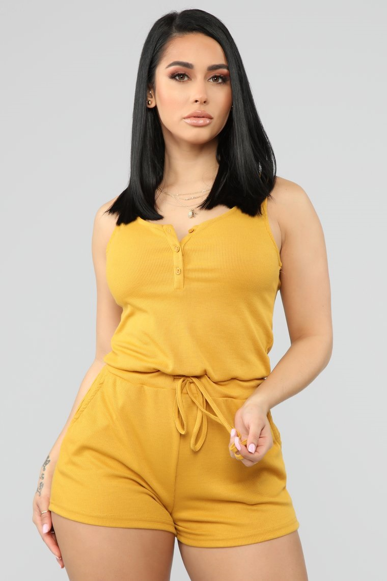 Jumpsuit   Women Summer Short Sleeveless Drawstring Playsuits and   Jumpsuits   Black/Yellow Rompers Womens Playsuit Sexy Fashion 2019